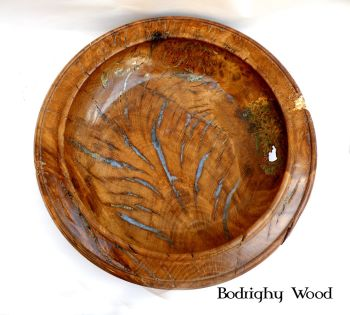 SOLD:   Rustic Oak Bur Bowl