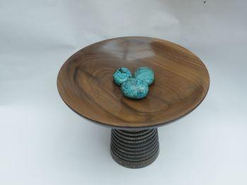walnut stained oak offering bowl (10)