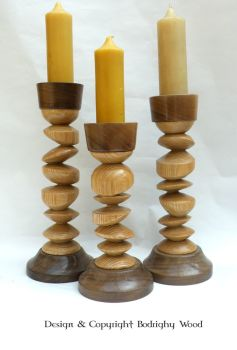 Tryptic of Off centre Candlesticks