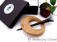 oak celtic brooch bird pin 7