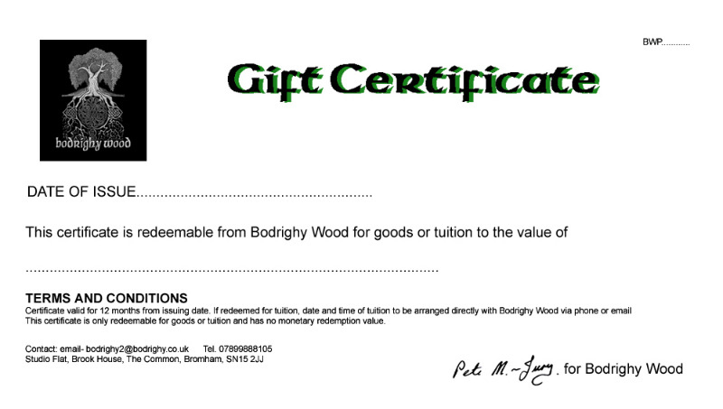 product gift certificate copy
