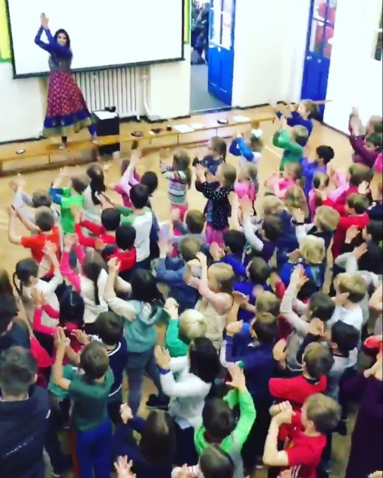 Bollywood dance at assembly