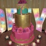 Bollywood Decor - Cake