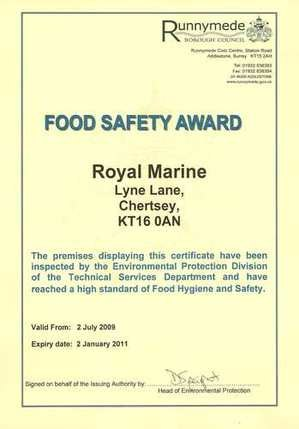 Food Safety Award