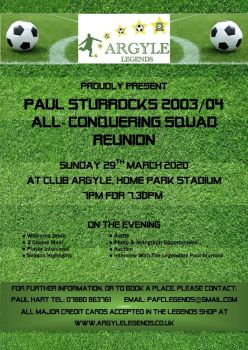 Paul Sturrock's 2003/04 Squad Reunion