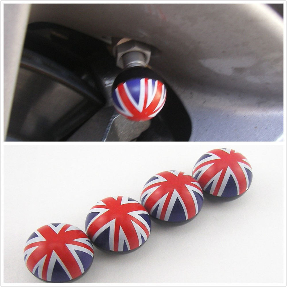 Set of 4 Union Jack Car Wheel Dust Caps
