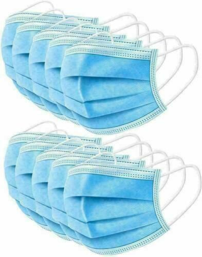 Disposable Protective Face Mask 3 Layer Breathable