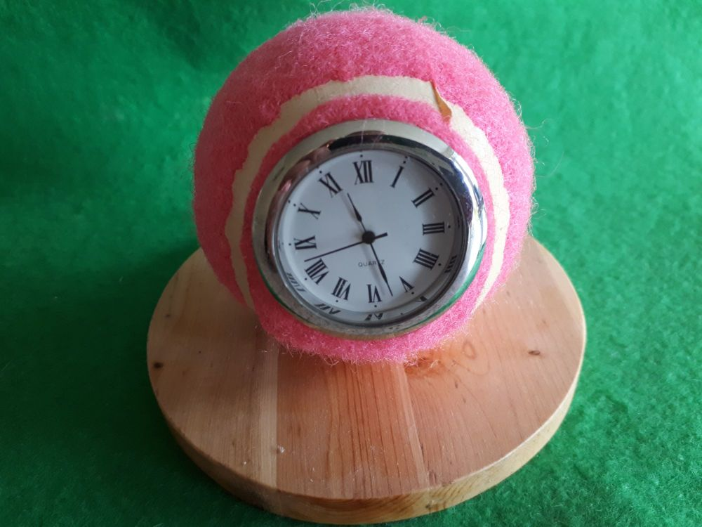 Real Tennis Ball Clock
