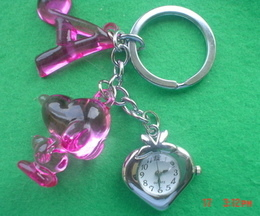 Snoopy Dog Heart Shaped Watch Keyring
