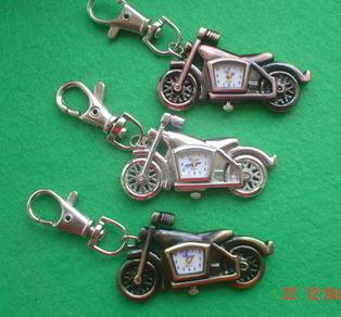 Motor Bike Quartz Watch Key Rings