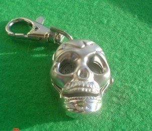 NEW Skull Head Key Ring Watch