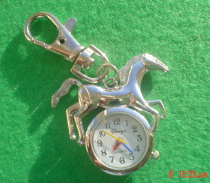 Horse Quartz Watch Key Ring