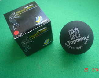 Topman Squash Ball (Red dot) - WSF approved