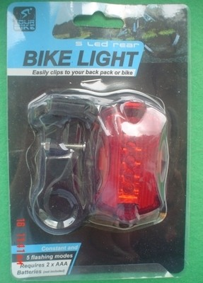 5 LED Rear Bike Light