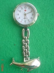 New Lovely Dolphin Nurse Style Brooch Quartz Watch