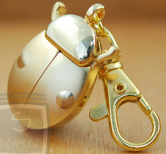 Gold Beetle keyring Watch