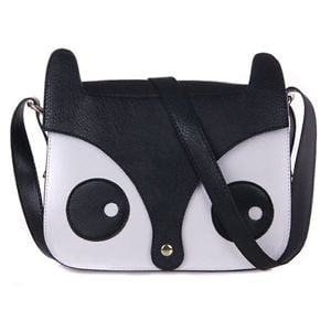 Cute Owl Satchel Womens Shoulder Bag (Black)