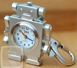 Robot Quartz  Watch Keyring