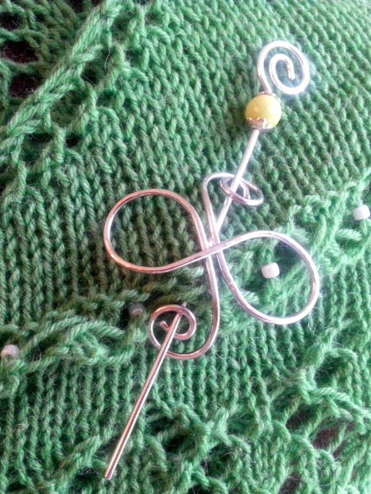 Tattysquawk Shawl Pin - Cornish Infinity