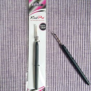 Knit Pro Steel Crochet Hook - 0.50mm