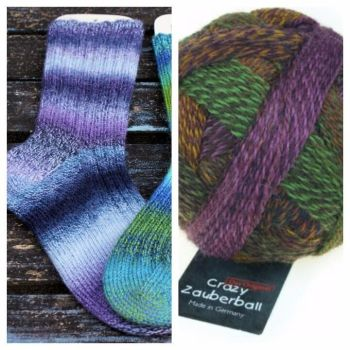 Creme Brulee Sock Kit - Crazy Zauberball 2312