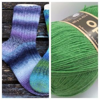 Creme Brulee Sock Kit - Opal Uni 1990 Grass
