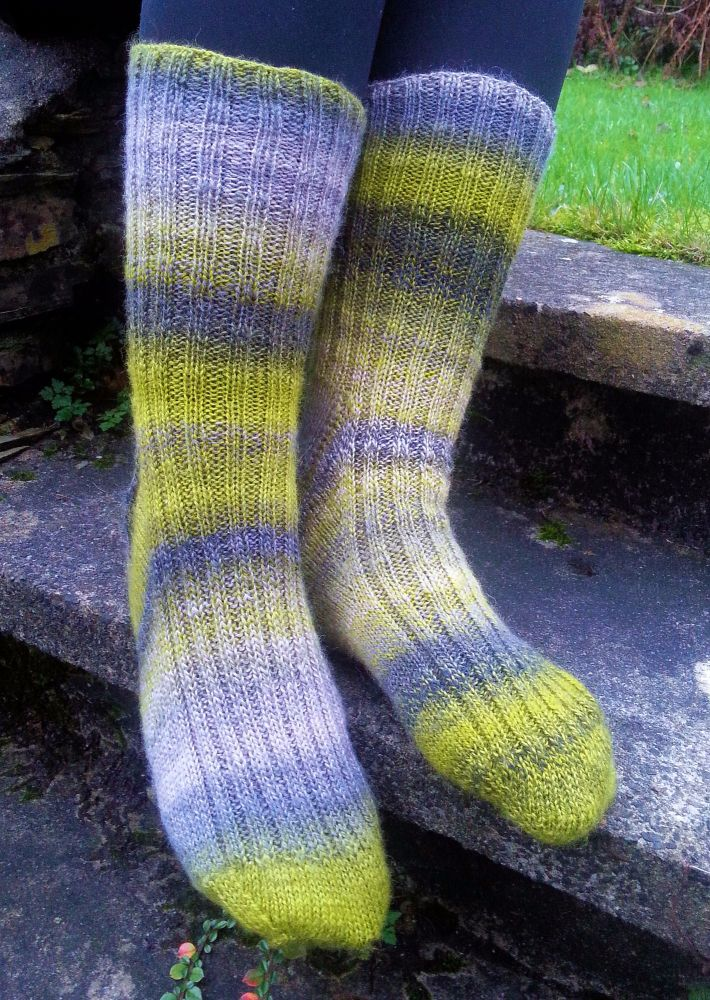 Creme Caramel Toe Up Sock Pattern