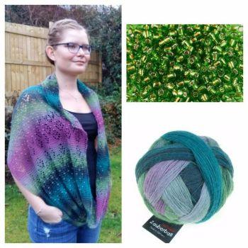 Nordlys Kit - 2308 & Green Beads