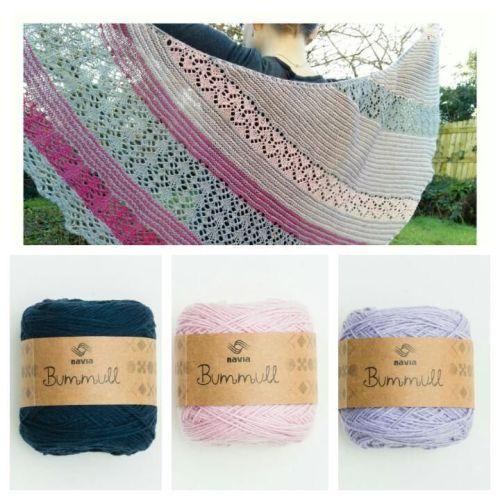 Crantock - Navy, Rose Pink and Lavender