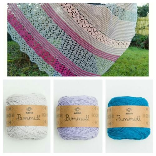 Crantock - String, Lavender and Sky Blue