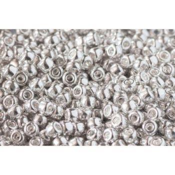 Debbie Abrahams Seed Beads - size 6/0 - 563 Metallic Silver