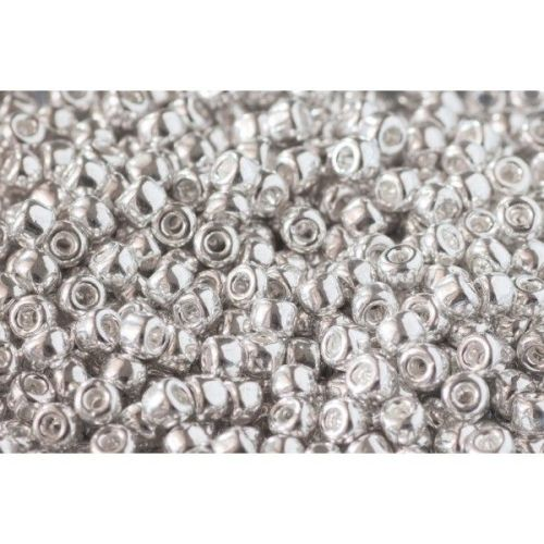 Debbie Abrahams Seed Beads - size 6/0 - 563 Metallic Silver