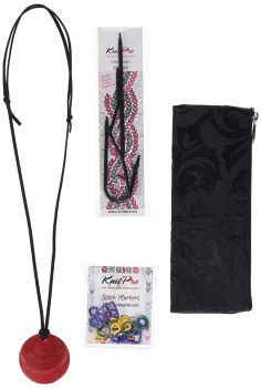 Magnetic Knitters Necklace Kit - Cherry Berry