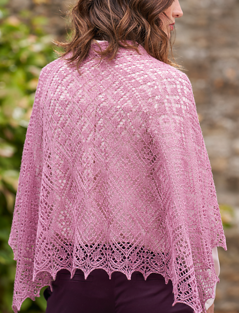 Corncockle Hand-Knitted Shawl