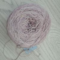 YarnAddict BFL Dream Lace - very pale pink (wound into a cake)
