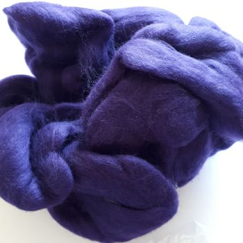 Fibre for spinning or felting - purple (85g)