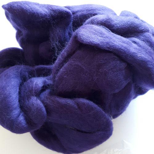 Fibre for spinning or felting - purple (85g)
