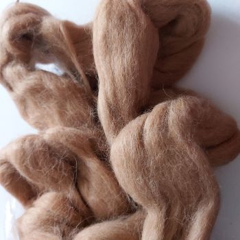 Undyed light brown alpaca top - 190g