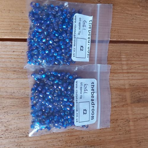 Size 6 seed beads - 641 variegated purple/violet (30g)
