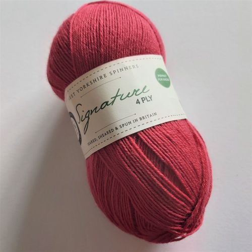 West Yorkshire Spinners Signature 4ply (sock yarn) - 529 Cherry Drop