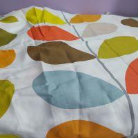 Large 'Orla Kiely' stem print on white cotton fabric