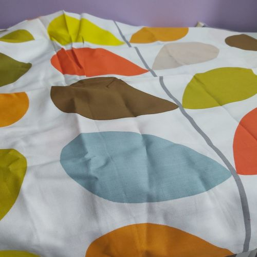 Large 'Orla Kiely' stem print on white cotton fabric