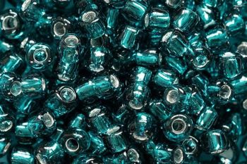 Debbie Abrahams Seed Beads - size 6/0 - 51 teal