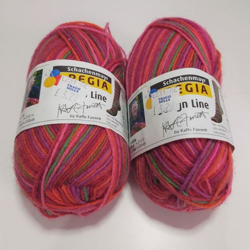 Regia Design Line Kaffe Fassett Sock Yarn - 2901 (2 x 50g balls)
