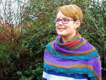 Amalfi (hand-knitted shawl)