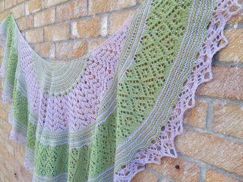 Murano (hand-knitted shawl)