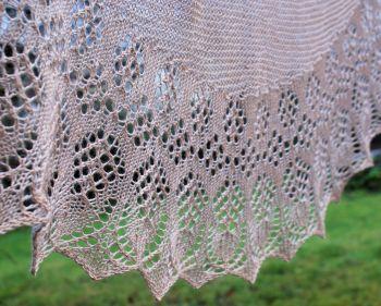 Aurora (hand-knitted shawl)