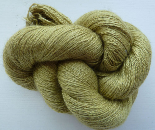 Silky Cashmere Fingering - Lace Weight - 17 Wasabi