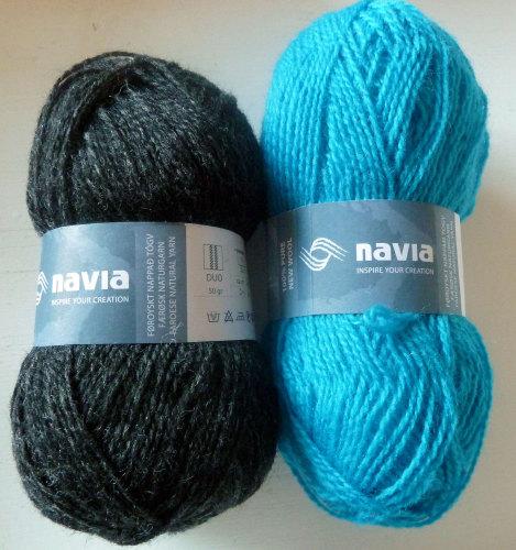 'Vaffel Votter' Kit - Charcoal & Turquoise