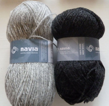 'Silver Birch' Knitting Kit - Charcoal and Light Grey